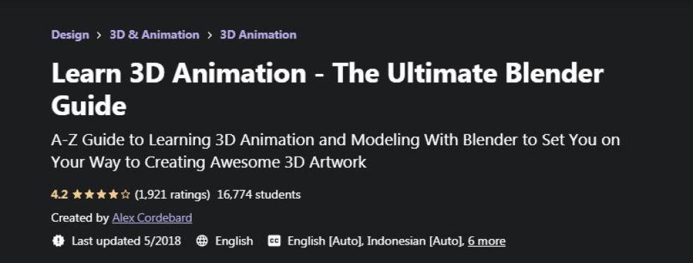 Learn 3D Animation
