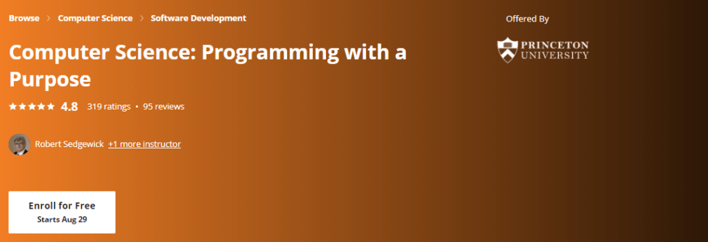 Computer Science: Programming with a Purpose