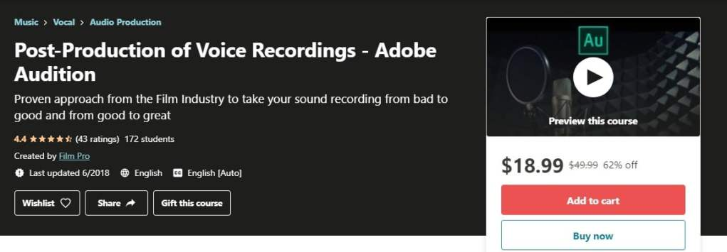Post-Production of Voice Recordings - Adobe Audition