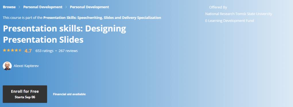 Presentation skills: Designing Presentation Slides