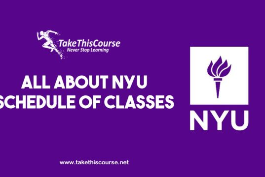 NYU Schedule of Classes