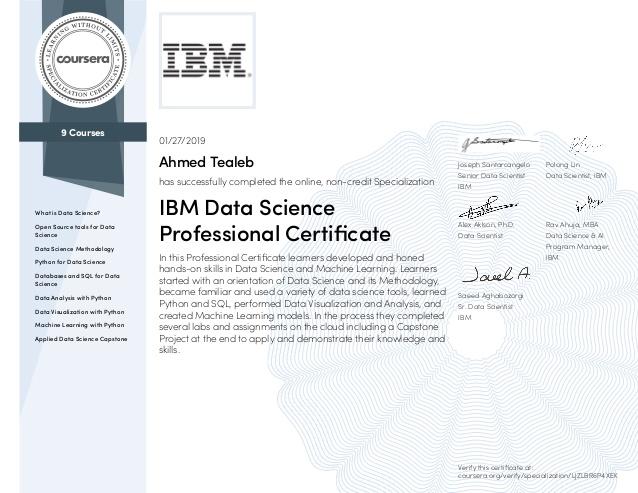 IBM Data Science Professional Certificate Review [Sample]