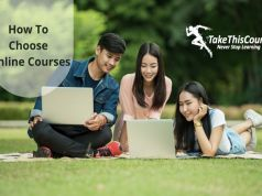 How to choose online courses