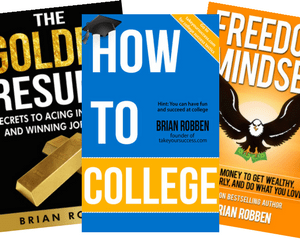 Brian Robben's three books.