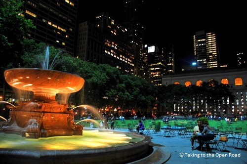 7 days in New York things to do in NYC Bryant Park takingtotheopenroad peggytee