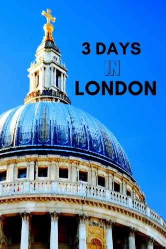 3 days in London on the cheap Pin