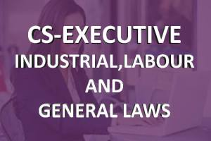 CS executive industrial,labour and general laws online classes