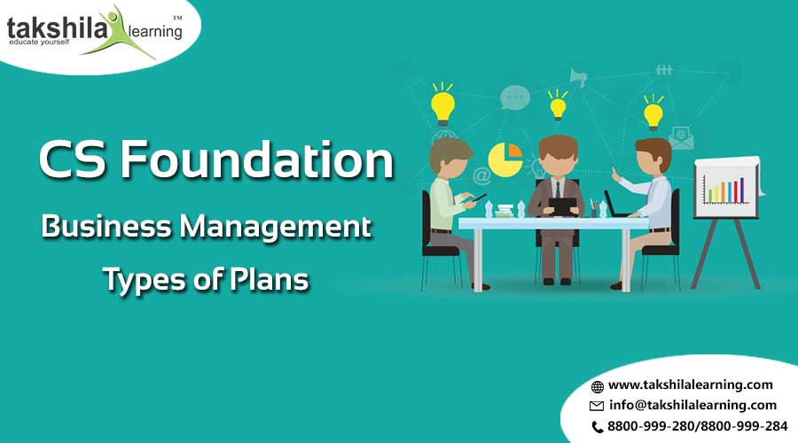 CS Foundation Business Managements Topic Type of PLANS & STRATEGY