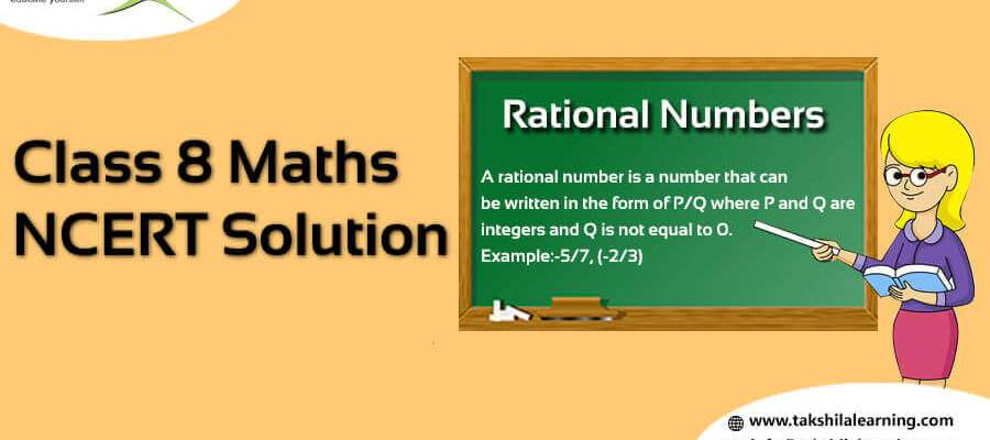 NCERT Solution for Class 8 Maths Rational Numbers