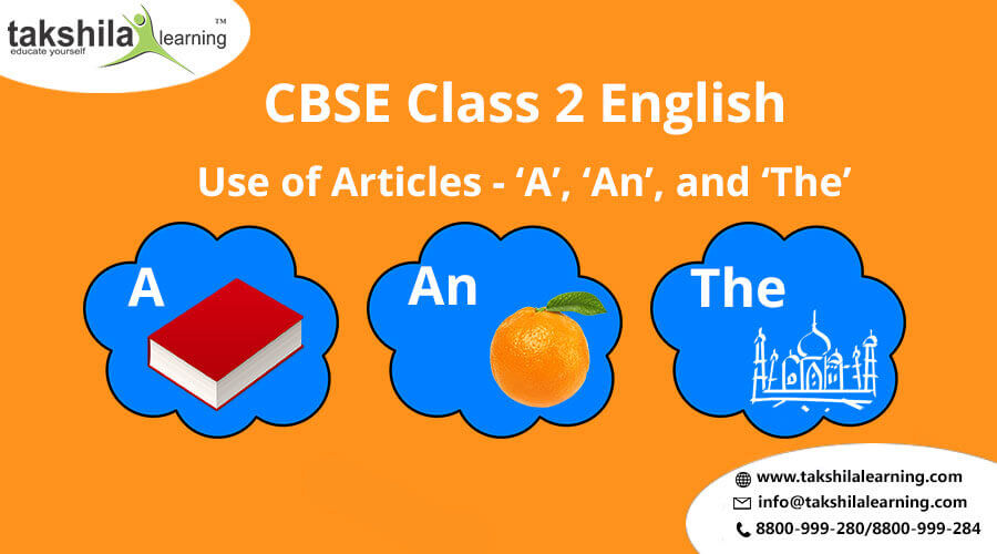 Class 2 English Use of Articles - 'A', 'An', and 'The' Practice Worksheet, CBSE class 2 english worksheets