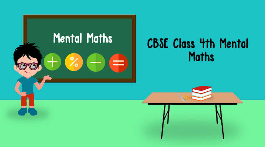 Practice Worksheet Mental Maths For Cbse Class 4