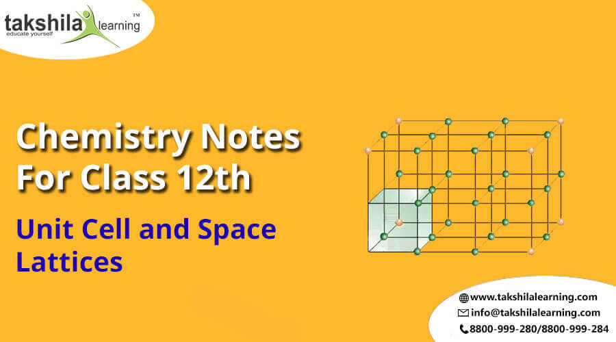 Unit Cell And Space Lattices - Topic of CBSE/NCERT Chemistry Class 12 - Notes, class 12 chemistry