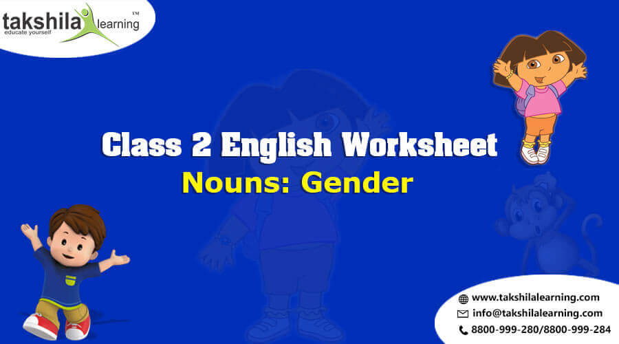 Download Free Worksheets for Class 2 English Nouns Gender