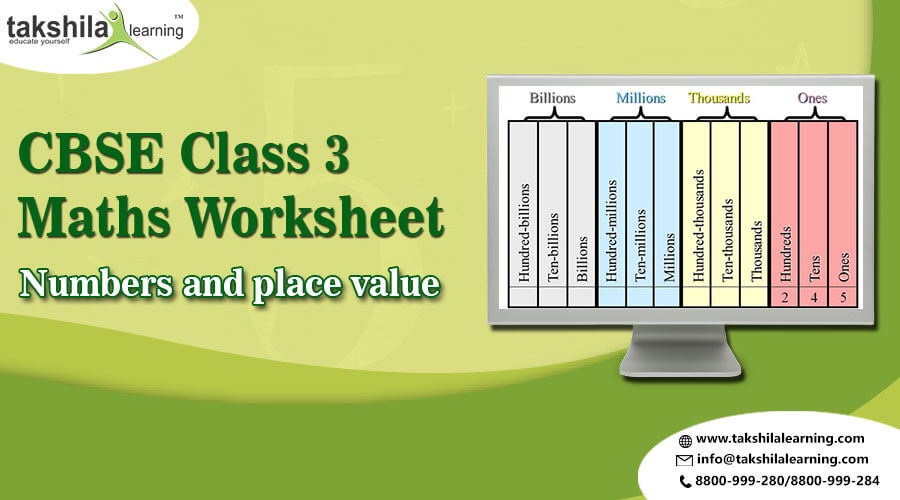 CBSE Class 3 Maths Numbers and place value | Practice Worksheet ...
