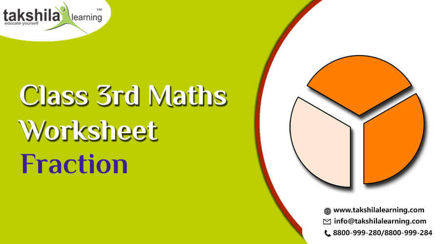 Practice Worksheet For Class 3 Maths Fraction