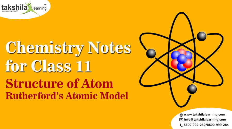 NCERT Chemistry Notes for Class 11- Structure of Atom-Rutherford's Atomic Model, chemistry notes for class 11