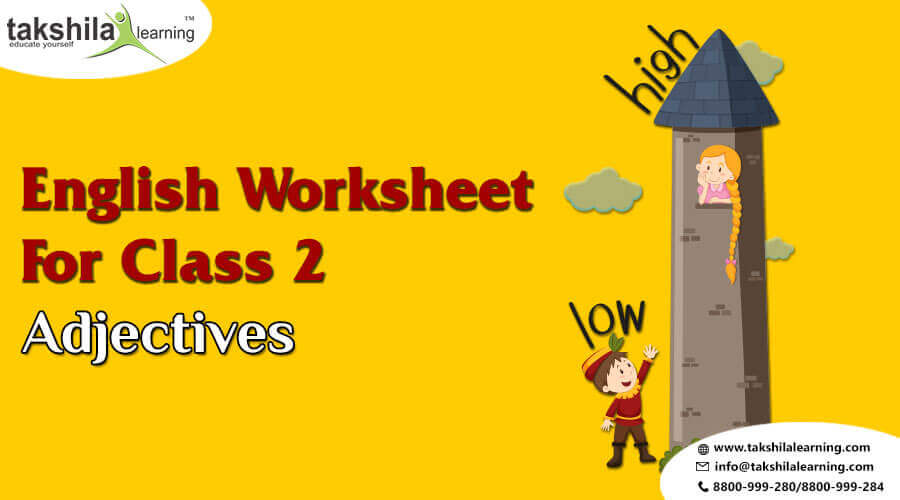 Practice Worksheet for Class 2 English Grammar – Adjectives