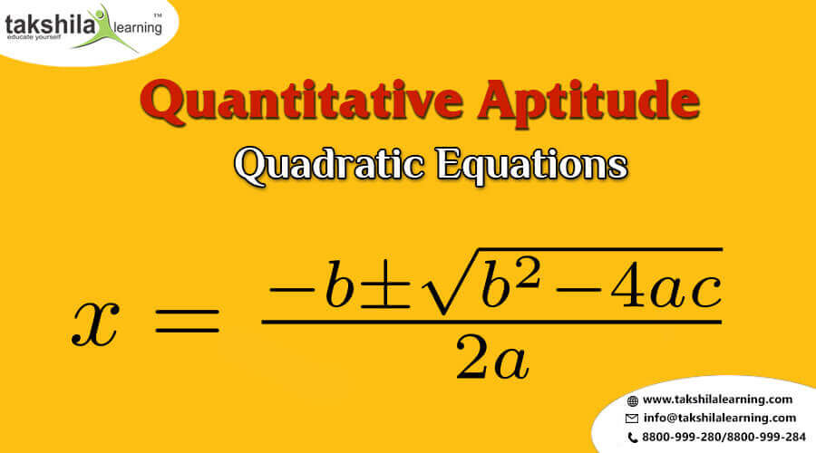 Quadratic Equation Questions for IBPS PO , SBI PO and IBPS Clerk , SBI Clerk , RRB, Exam 2018