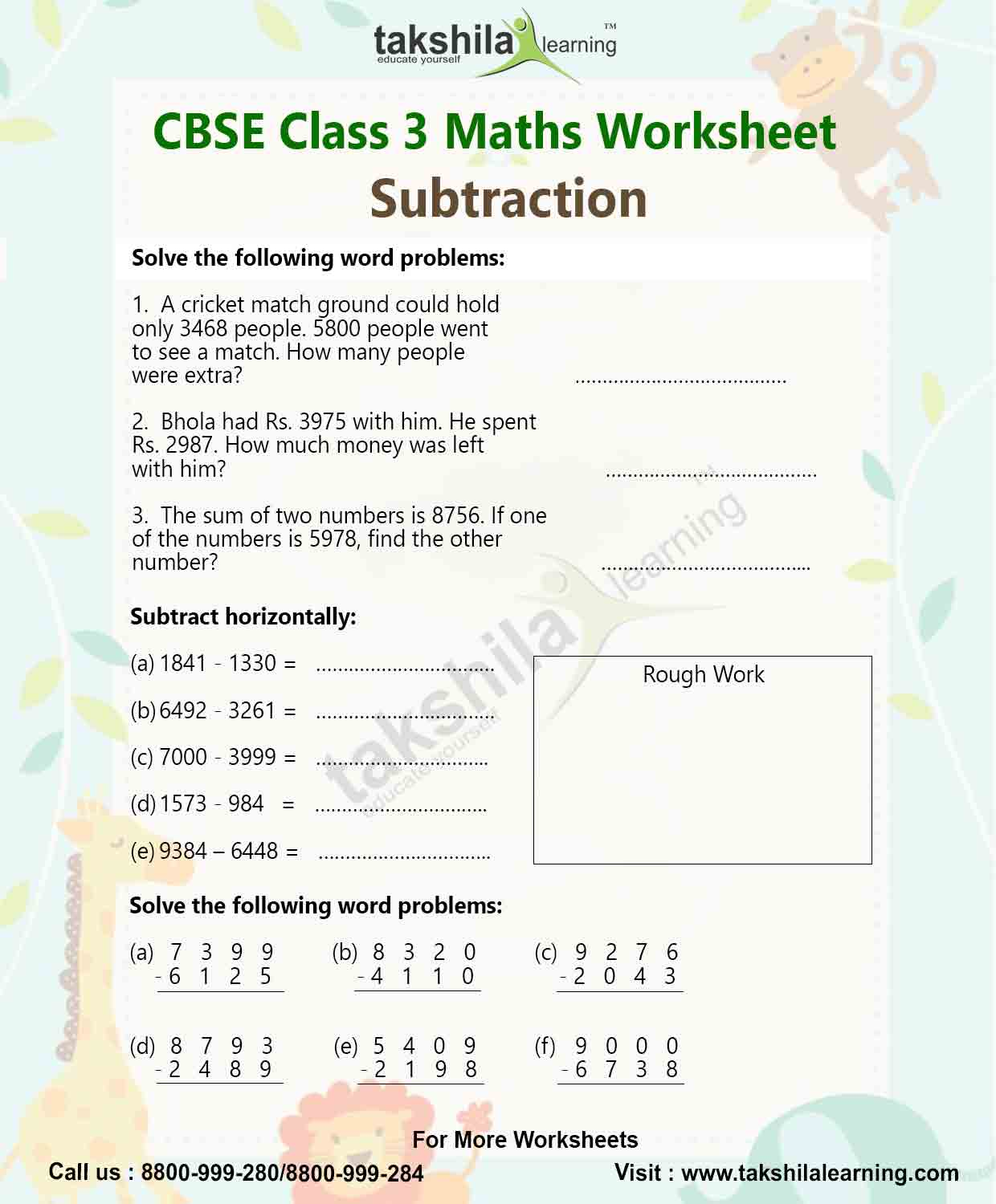 Dps Math Worksheet For Class 3