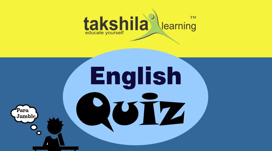 English Quiz for Rearrange sentences for IBPS PO & IBPS CLERK : Part 13