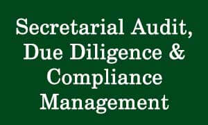 CS Professional Secretarial Audit Due Diligence & Compliance Management Video Lectures