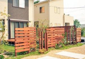 目隠しフェンスで庭をプライベート空間に 彦根市