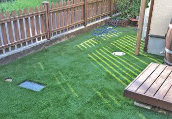 人工芝の庭、施工後