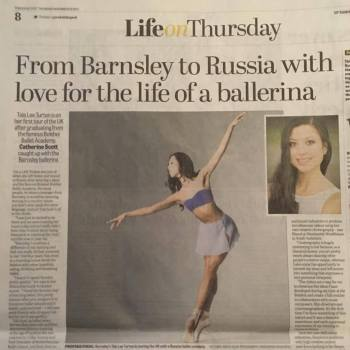 Tala Lee-Turton - news article - professional ballerina