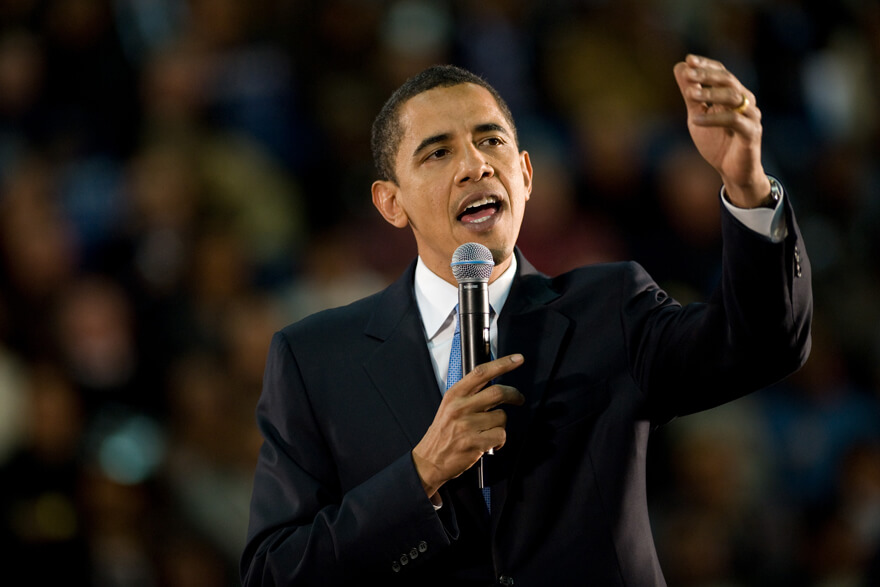 Barack Obama håller tal