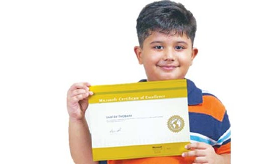 8 years Shafay Thobani – Youngest Microsoft Certified Holder