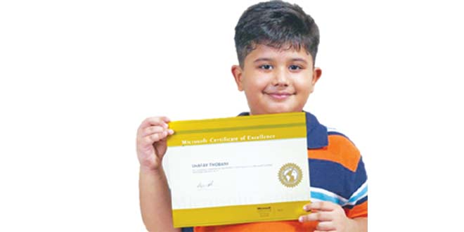 8 years Shafay Thobani – Youngest Microsoft Certified Holder