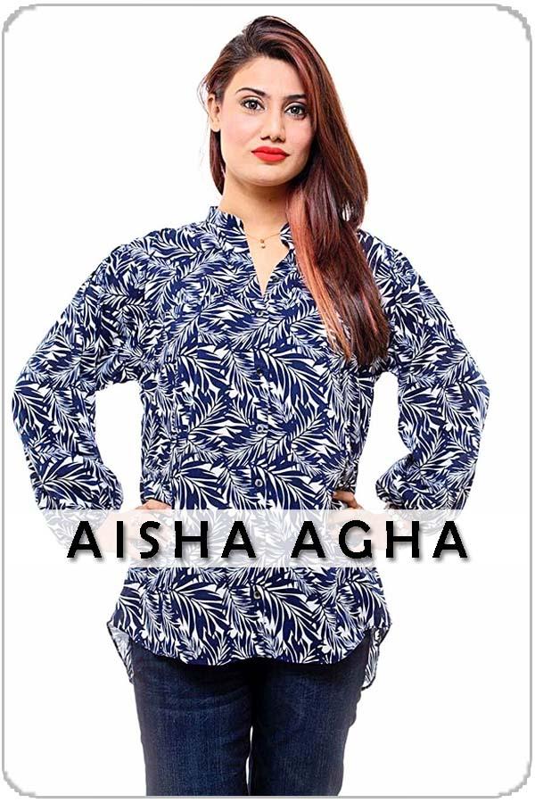 Pakistan Female Model Aisha Agha