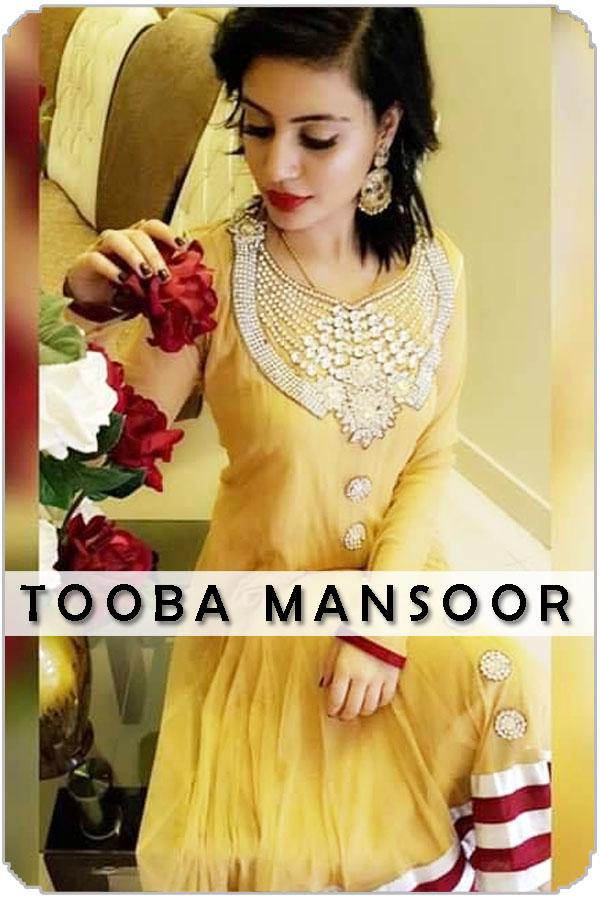 Pakistan Female Model Tooba Mansoor