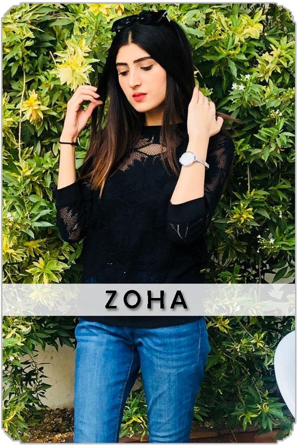 Pakistan Female Model Zoha