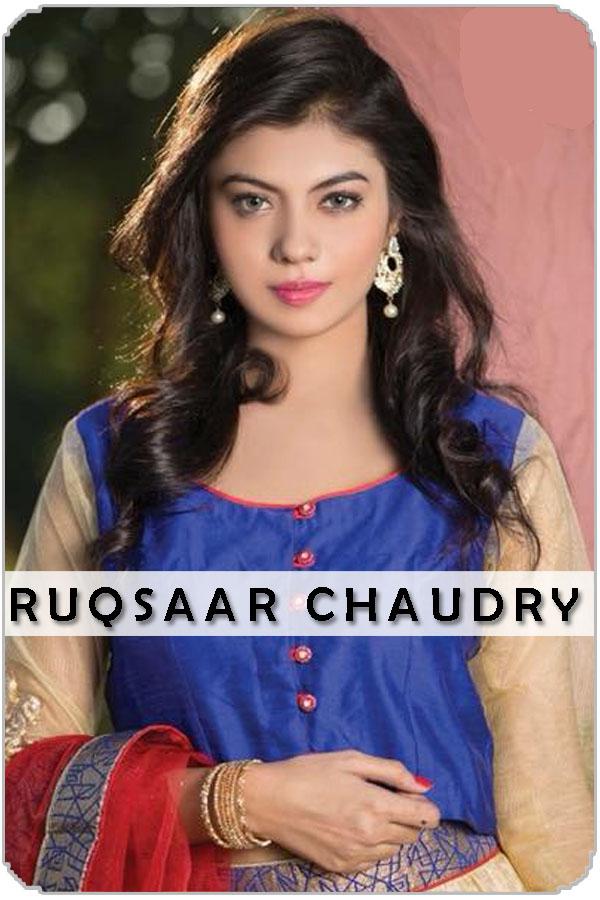 Pakistani Female Model Ruqsaar Chaudry