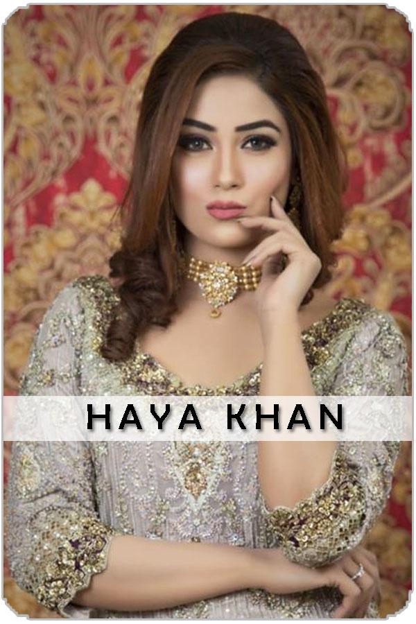 Pakistani Top Female Model Haya Khan