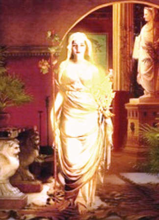 Picture of the goddess Vesta / Hestia