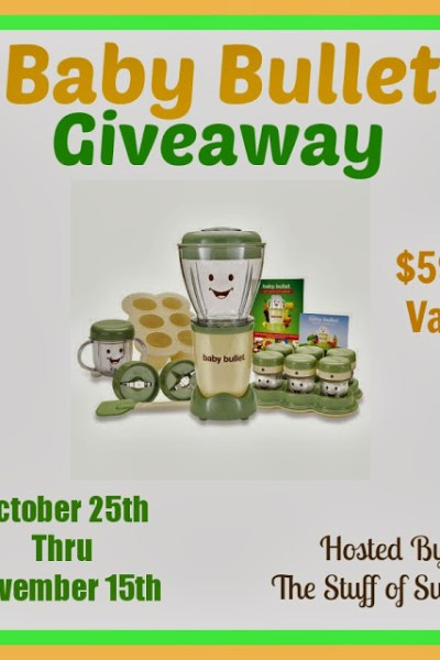 Baby Bullet Giveaway! Ends 11/15