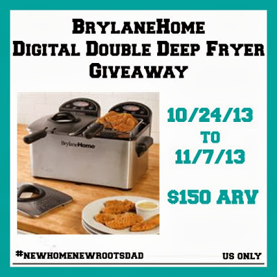 BrylaneHome Digital Double Deep Fryer Giveaway! Ends 11/7
