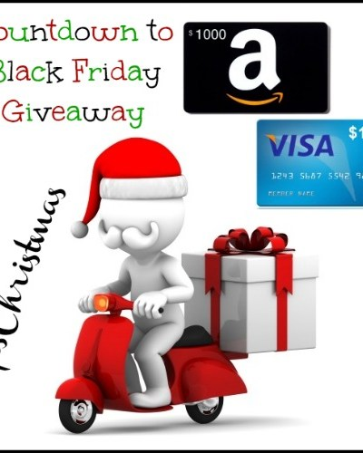 Count Down to Black Friday $1000 Visa Gift Card or Amazon Gift Card Giveaway! Ends 11/29