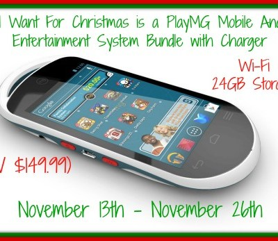 All I Want For Christmas is a PlayMG 24G Mobile Android Entertainment System Bundle Giveaway! Ends 11/26