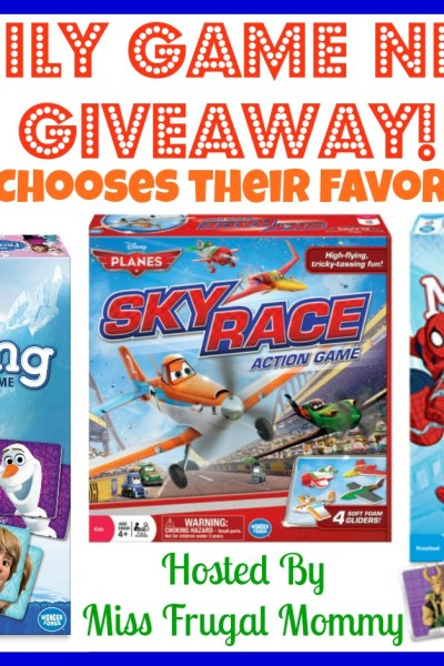Family Game Night Giveaway! Ends 04/29