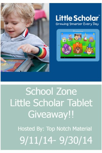 Little Scholar Learning Tablet Giveaway! 09/30