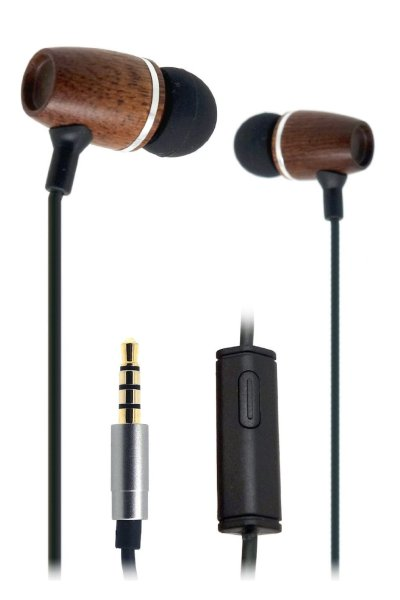 FSL Xylem Wooden Earbuds with Microphone