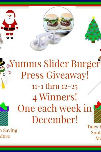 Yumms Slider Hamburger Press Giveaway! 12/25