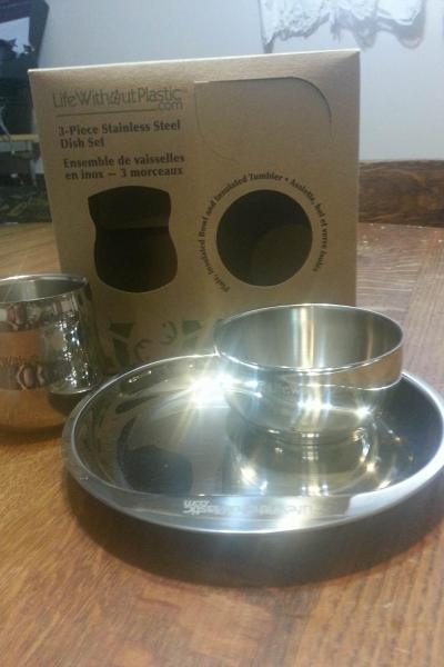 Life Without Plastic Stainless Steel Dish Set