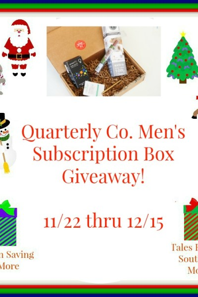Quarterly Co. Choice of Subscription Box Giveaway! 12/15