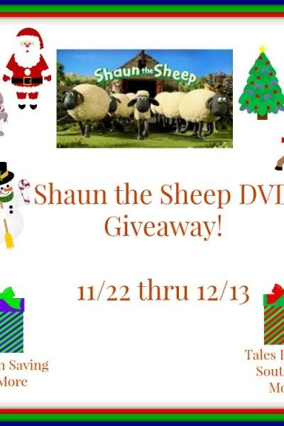 Shaun the Sheep DVD/Blu-Ray Giveaway! 12/13