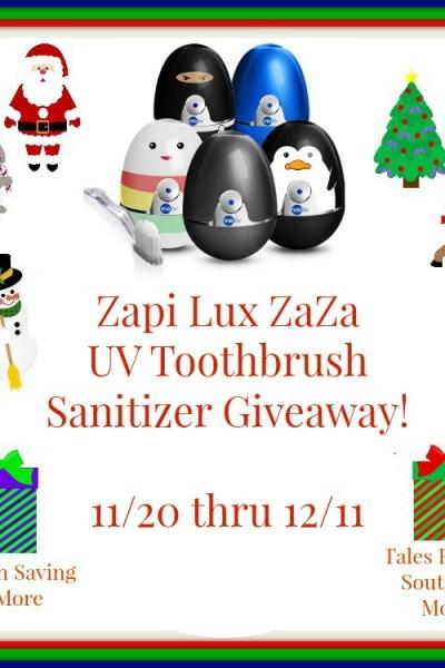 Zapi Lux ZaZa UV Toothbrush Sanitizer Giveaway! 12/11