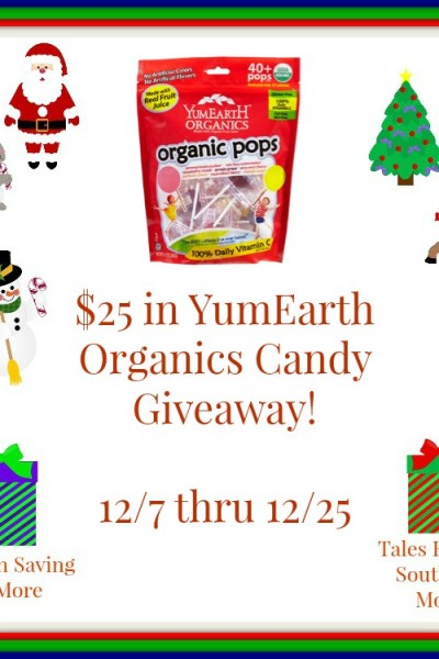 $25 YumEarth Organic Candy Giveaway! 12/25